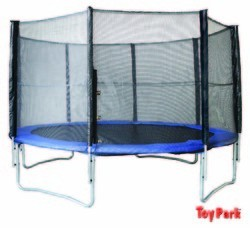 Toy Park Fitness TUV Approved Trampoline with Enclosure Safety Net and Ladder for Kids & Adults, 6ft