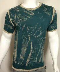 Acid Wash Mens Round Neck T Shirt