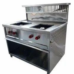 Stainless Steel 2 Burner Cooking Range
