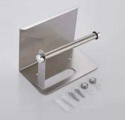 Silver Stainless Steel Tissue Paper Holder, For Bathroom