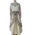Embroidered Girls Ethnic Gown, Packaging Type: Box
