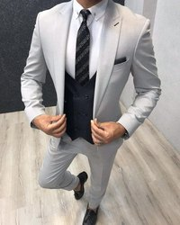 Men Cotton Formal Suit