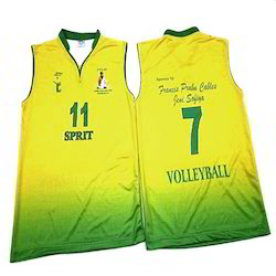 Men Polyester Sports Volleyball Jersey With Shorts
