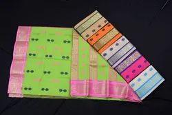 Weaving Jamdani Bengal Handloom Tant Cotton Saree