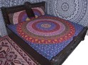 Six Colour Of Mandala Duvet Cover