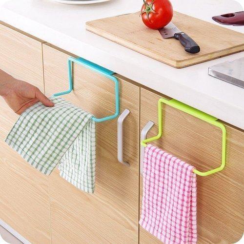 Towel Rack Hanging Holder Organizer Bathroom Kitchen Cabinet