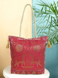 Stylo Culture Promotional Bags Brocade Silk Wedding Traditional Hand Bag