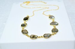 Fancy Shape Passionable Birthstone Beautiful Labradorite Gemstone Natural Stone Necklace