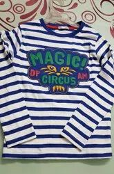 Hosiery Full Sleeves Kids Strips T Shirt