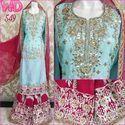 Silk Sharara Suit W-549