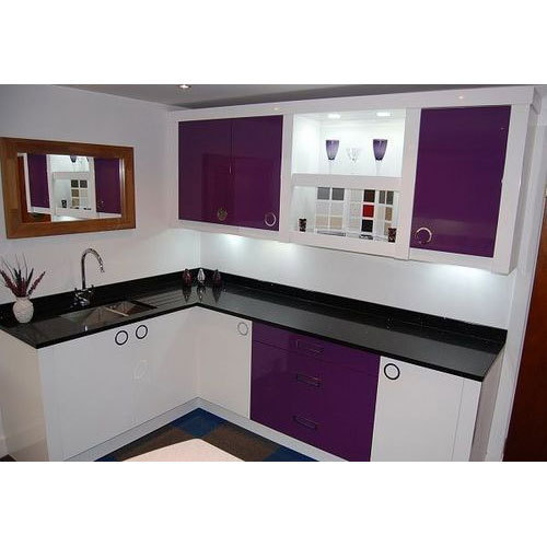 Stainless Steel Modular Kitchen Cabinets: Stainless Steel Modular Kitchen At Rs 4000 /running Feet