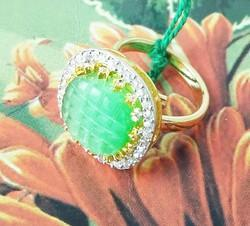 Fancy Green Stone Ring