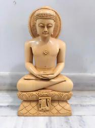 Wooden Jain Buddha Head