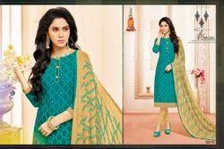Round Neck Mallika Salwar Suit Fabric