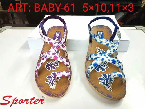 Sporter Kids Girls Fashion Sandal, Size