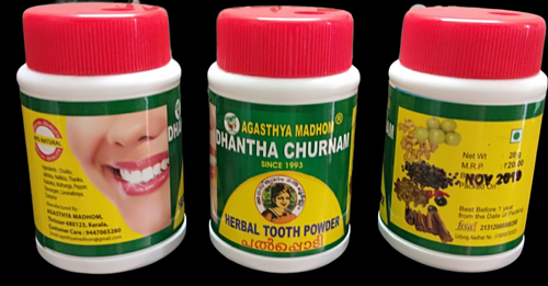 Agasthyamadhom Natural Only Dhantha Choornam, Bottle, Packaging Size: 20gm
