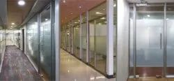 Wide Double Glaze Glass Partition