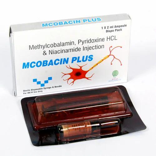 Mcobacin Plus Methylcobalamin Pyridoxine Niacinamide Injection