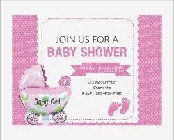Multicolor Velvet BABY SHOWER INVITATION CARD