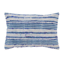 Stripe Embroidered Cotton Pillow Cover