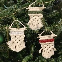 Macrame Christmas Ornaments Macrame Christmas Tree Decor Material