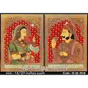 Raja Rani Miniature Handmade Wooden Paintings, Size: Customization Available