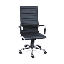 Arm Rest Black Sleek Chair