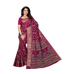 Printed Ladies Cotton Saree, 5.5 m (separate blouse piece), With Blouse