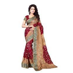 Ramapir Fashion Women's Wear Bandhani Saree