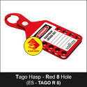 Red Lockout Tago Hasp - 8 Hole