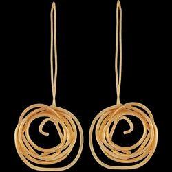 Women Wedding Minimalist Wire Design Dangle Earrings Jewelry