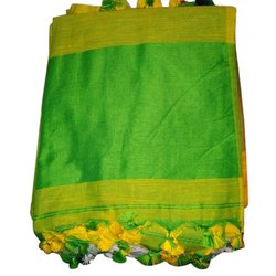 6.3 m (with blouse piece) Laxmi Printing Designer Khadi Cotton Saree