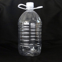 Plastic Transparent Mineral Water Bottle 5 Liter, Capacity: 5 Litre
