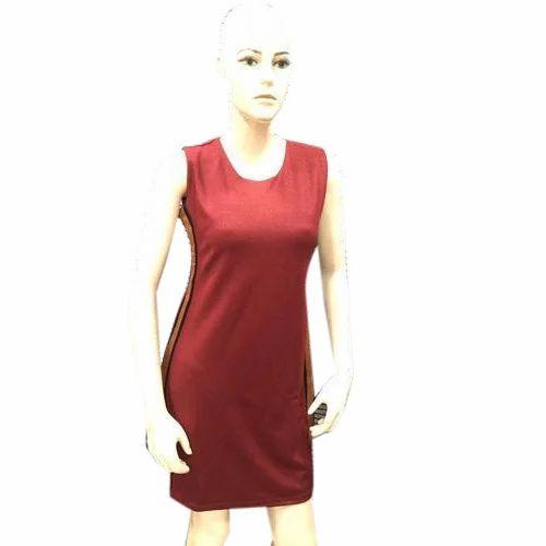7037f9fbaff Sleeveless Plain Trendy One Piece Dress