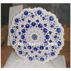Exclusive Lapis Lazuli Marble Inlaid Table Top