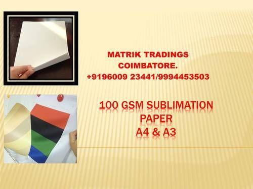 Sublimation Transfer Paper - A4 & A3 100 GSM Sublimation