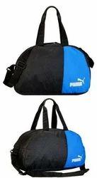 Polyester Black And Blue Puma Travel Luggage Duffel Bag, Size/Dimension: 43 Cm X 23 Cm X 23 Cm