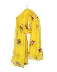 Embroidered  Chiffon Long  Phulkari Wraps Scarf/Dupatta
