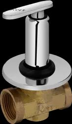 Brass Ren Flush Cock With Washer System & Adjustable Wall Flange (25mm) (RF-409)