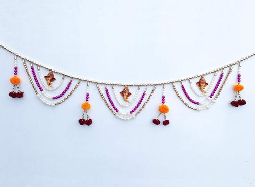 bca809312 Door Hanging Toran Handcrafted with Colorful Beads Ganesh Toran for Home  Decoration