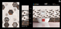 Glossy Ceramic 5052 Wall Tiles, Size: 300x450 Mm, Packaging Type: Cartoon Box