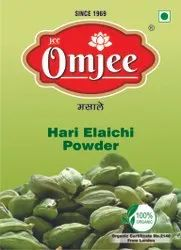 7 Mm OmJee Green Cardamom Powder, Packaging Type: Box, Packaging Size: 50g