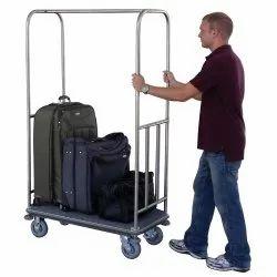 SR Luxury 5.5 Feet Lobby Luggage Trolley, For Hotel