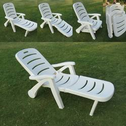 Nakoda White Plastic Relax Chair, For Outdoor