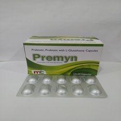 Prebiotic, Probiotic with L-Glutathione Capsules