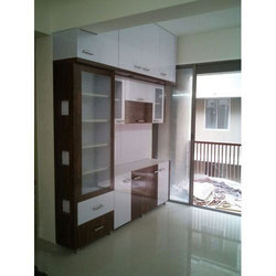 White & Brown Interior PVC Cabinet