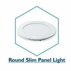 Pure White Plastic 6W Round Slim LED Panel Light, IP Rating: IP33