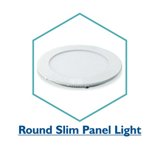 Pure White Plastic 6W Round Slim LED Panel Light, IP Rating: IP33