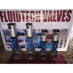 SS 304 Pneumatic Cylinder Knife Gate Valve