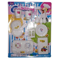 Plastic 10 11 Pieces Colour Toy Kitchen Set Rs 20 Set Lucky Toys Id 20750959388